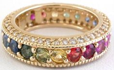 When I am done having kids, their birthstone, mine and my hubbies in the eternity band.  love it!
