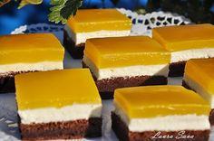 Prajitura cu branza dulce si Fanta este o prajitura savuroasa, pe placul tuturor!!! :) Ingrediente: Blat: - 6 oua mari - 100 ml unt topit sau ulei - 2 lingurite praf de copt (rase) - 100 g zahar (6 linguri zahar) - 20 g cacao (2 linguri cacao) - 80 g faina (4 linguri pline cu faina) Crema: - 350 g branza de vaci - 200 gunt - 150 g zahar Glazura: - 1 litru Fanta de portocale sau alte arome - 2 plicuri budinca de vanilie - 4 linguri zahar Mod de preparare: Se incalzeste cuptorul la 180 grade…