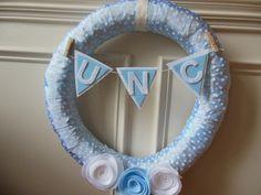 """18"""" UNC Tarheels Wreath"""