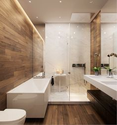 24 ideas for bathroom shower room sinks Wood Tile Shower, Bathroom Floor Tiles, Wood Bathroom, Bathroom Layout, Bathroom Interior Design, Modern Bathroom, Small Bathroom, Wood Tiles, Bathroom Ideas
