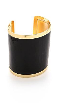 black + gold cuff