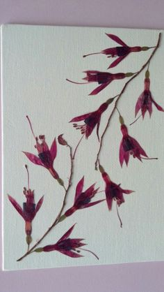 Pressed+Flower+Art+on+Canvas+5+x+7+Branches+of+by+FlowerFelicity,+$29.99