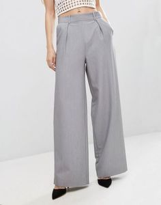 Find the best selection of ASOS Wide Leg Pants with Pleat Detail. Shop today with free delivery and returns (Ts&Cs apply) with ASOS! Velvet Fashion, Pink Velvet, Wide Leg Trousers, Must Haves, Fashion Online, Latest Trends, Shopping, Templates, Reach In Closet