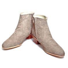 Beatle Boots Women's Gray