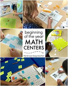 """Math centers that will make your students feel like they are """"just playing games"""" rather than learning math!"""