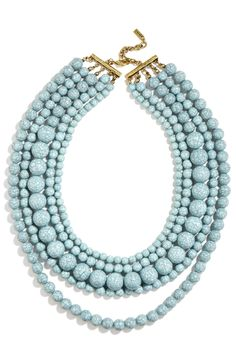 'Globe' Multistrand Beaded Necklace