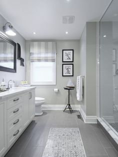 Light Grey And White Bathroom. Love the gray floor white vanity  light color of tiles Gray tile with love how they have that looks like Bathroom Ideas For Relaxing Days And Interior Design Light
