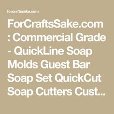 ForCraftsSake.com : Commercial Grade - QuickLine Soap Molds Guest Bar Soap Set QuickCut Soap Cutters Custom Products Accessories Soap Packaging Displays Wood Crates Custom Order Pages Custom Set Up Charge New Products BARGAIN BIN Wood Crates, Craft Crates, Soap Molds, Soap Cutters, Manufacturer, Wholesale, Wood Products, Hand Crafted, Incense Displays, Craft Displays, Store Displays, Minnesota, Tradewinds Fragrance, Craft Supplies