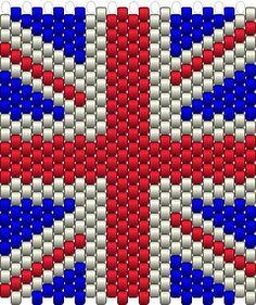 #union jack #peyote #beading #flag #keyring #pattern #beadingpattern