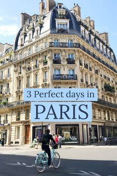 The Best of: Paris in 3 Days Paris is a beautiful city that you could spend weeks exploring. Short on time? Don't worry, here's how to make the most out of Paris in 3 Days. Paris Travel Guide, Europe Travel Tips, Travel Destinations, Asia Travel, Travel Plane, Paris Hotels, Chicago Hotels, Chicago Restaurants, European Vacation