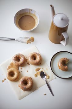 Coffee-Glazed Vanilla Nutmeg Donuts (I will skip the coffee flavoring in the icing but gladly take the nutmeg!)