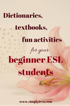 ESL textbooks for beginners in middle and high school. ESL/ELL textbooks, dictionaries, games