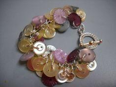 Vintage Style Button Bangle Bracelet by Beads4You2008 on Etsy,