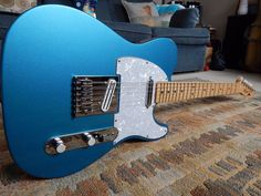 Fender Standard Telecaster  Lake Placid Blue w/ several upgrades and F gig bag