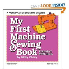 My First Machine Sewing Book --- Winky Cherry - covers all the basics + practice pages to photocopy, for paper sewing