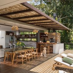 The wooden pergola is a good solution to add beauty to your garden. If you are not ready to spend thousands of dollars for building a cozy pergola then you may devise new strategies of trying out something different so that you can re Backyard Patio Designs, Pergola Patio, Outdoor Rooms, Outdoor Living, Outdoor Kitchen Design, Home Deco, Exterior Design, Future House, Sweet Home
