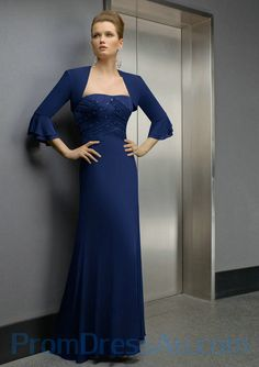 Sweep Train Ruched Strapless Best Royal Blue Mother of the Bride Dresses
