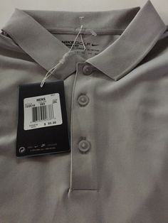 89435562 NIKE GOLF VICTORY POLO SHIRT Grey/White NIKE Golf Dri Fit 2XL NEW XXL
