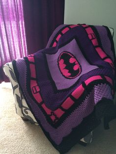 Girls batman blanket. Who doesn't love pink and purple?