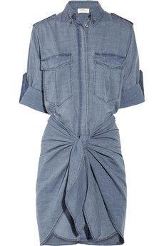Etoile Isabel Marant Qimi cotton-chambray shirt dress NET-A-PORTER.COM - StyleSays