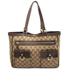 4d958befcfff Labellov Gucci Monogram Abbey Tote Bag ○ Buy and Sell Authentic Luxury