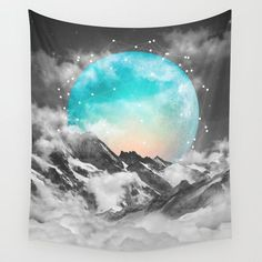 It Seemed To Chase the Darkness Away (Guardian Moon) Wall Tapestry