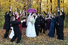 Fall wedding?  Have some fun with the leaves!