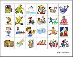 French: Activité orale—verbes d'action, trouver son partenaire - preview 1