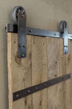 "Artisan Hardware Aspen Raw Steel Barn Door Hardware Kit for 36"" Door"