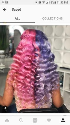 for more pins ✨ please give credit Good Hair Day, Love Hair, Weave Hairstyles, Cool Hairstyles, Protective Hairstyles, Creative Hair Color, Vibrant Hair Colors, Natural Hair Styles, Long Hair Styles