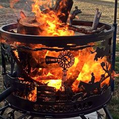 Australian outback fire drum...