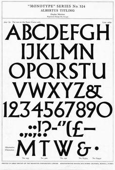Albertus Titling Monotype Series No.324