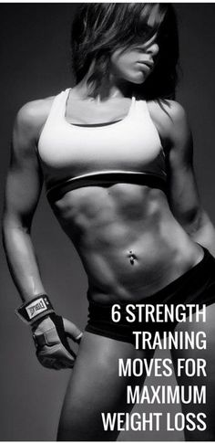 Strength training for weight loss. #strengthtraining #healthy #diet #workout #fitness http://lindseyreviews.com/strength-training-for-weight-loss-6-best-moves/