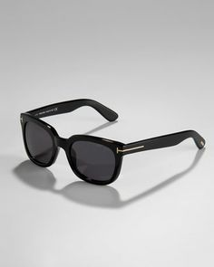 Campbell Plastic Sunglasses, Black by Tom Ford at Neiman Marcus.