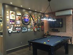 Man Cave Ideas and a Guide to a Successful Design - Man Cave Home Bar Bar Billard, Billard Design, Garage Game Rooms, Game Room Basement, Man Cave Room, Man Cave Home Bar, Billards Room, Rock Bar, Pool Table Room