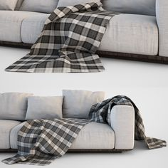 3D Sofa Blanket Set - 3D Model