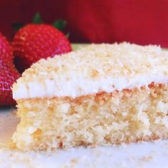 "Gluten-Free Coconut Cake | ""I made this for my mom's 65th birthday and frosted it with a simple vanilla buttercream. No one can tell it's gluten-free!"""