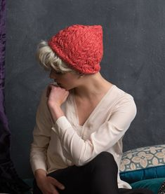 Create this fun tomboyish knitted hat pattern using cross stitches and cables. Knit Hat For Men, Hats For Men, Baby Hat Patterns, Knitting Patterns, Baby Hats, Knitting Projects, Geometric Shapes, Knitted Hats, Winter Hats