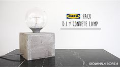 Ikea Hack DIY Concrete lamp | Giovanna Borza - YouTube