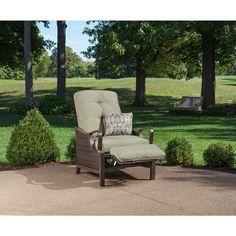 $499  Hanover Ventura Luxury Recliner Patio Chair with Pillow - VENTURAREC - The Home Depot