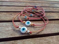 Excited to share this item from my shop: Evil eye bracelet March bracelet Martis Martisor Red white string bracelet Evil eye men Evil eye women Evil eye kids Evil eye jewelry gift Evil Eye Jewelry, Evil Eye Bracelet, Color Beige Claro, Bracelets For Men, Beaded Bracelets, Greek Evil Eye, Red String Bracelet, Color Turquesa, Evil Eye Charm