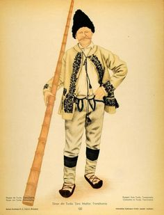 """Romanian Peasants costumes from Turda """"The Stone Land"""", Transylvania. Mountain Climbing Gear, Folk Costume, Costumes, Free Black, Traditional Outfits, Hipster, The Originals, 1 Decembrie, Style"""