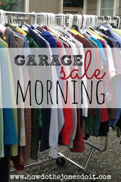This is no day to sleep in! Rise and Shine with that pesky rooster that lives next door. It's garage sale morning! Time to get your game on! Garage Sale Pricing, Garage Sale Signs, Sell Your Stuff, Things To Sell, Garage Sale Organization, For Sale Sign, Simple Life Hacks, Frugal Tips, Bake Sale