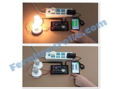 Handy WIFI Fernsteuerung per WLAN Universalfernbedienung WIFI Controller steuert 2 Lampen fern.