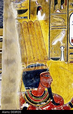 Mural paintings in the Tomb of Seti I. Valley of the Kings, Luxor West Bank. Egypt.