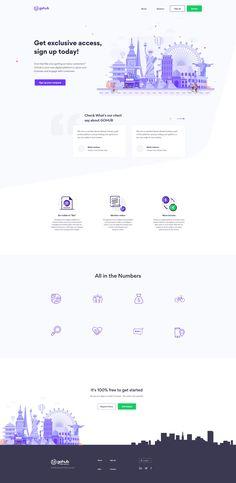 GoHub || Landing Page in XD by Anwar Hossain