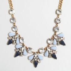 J.Crew Factory pointed clusters necklace ($49) ❤ liked on Polyvore featuring jewelry, necklaces, j crew jewelry, steel necklace, j.crew, steel chain necklace and chain jewelry