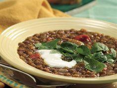 Slow cooker curried lentil soup