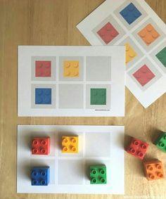 Beschäftigung Idee zum spielen für Kinder Free Pattern LEGO cards for preschoolers Lego Activities, Kindergarten Activities, Infant Activities, Lego Duplo, Legos, Preschool Learning, Teaching, Card Patterns, Kids And Parenting