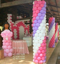 columnas con globos Balloon Stands, Love Balloon, Balloon Wall, Balloon Pillars, Column Covers, Ballon Decorations, Planes Party, Baby First Birthday, Outdoor Parties